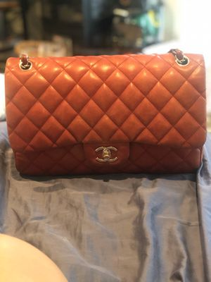 Red Chanel Classic Jumbo Double Flap Bag for Sale in Huntington Beach, CA
