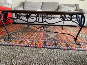 Coffee table (wood/iron) for Sale in Los Angeles, CA