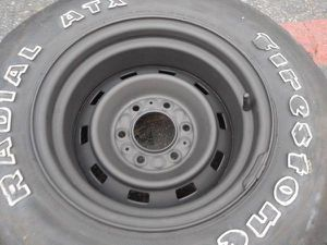 one 15x8 steel rally from a K5, 6 lugs chevy gmc c10 for Sale in Montebello, CA