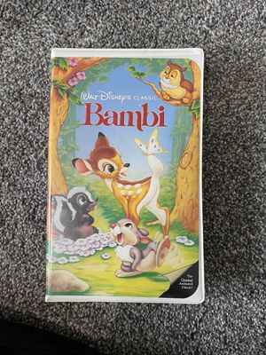 Bambi VHS Tape for Sale in Yorkville, IL