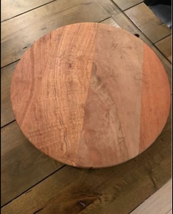 Rotating wooden table top