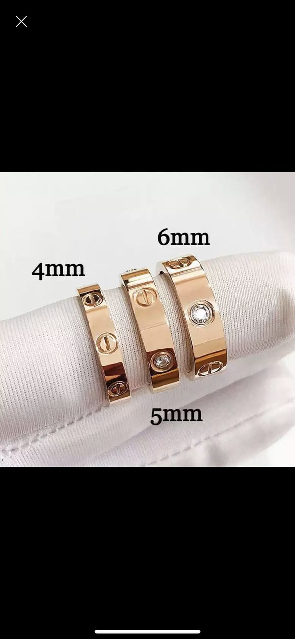 Cartier Style Love Rings, rose gold, gold