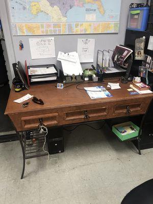 Office Desk Handmade Wood & Iron for Sale in Henderson, NV