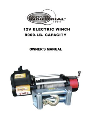 Northern industrial 9000lb winch for Sale in Boise, ID