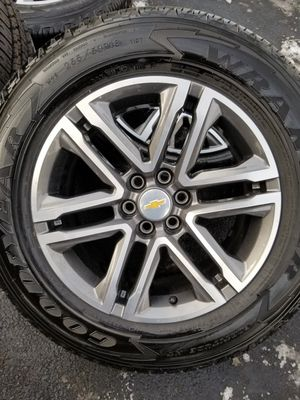 """18"""" Chevy Colorado stock OEM wheels rims tires NEW SET for Sale in Bolingbrook, IL"""