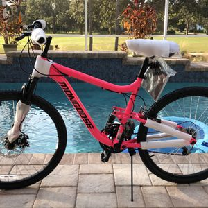 🔥🔥WOMENS Mongoose Major Mountain Bike🔥🔥🔥FRONT DISC BREAKS AND DUAL SHOCKS🔥🔥26-inch wheels, 18 speeds🔥🔥 for Sale in West Palm Beach, FL