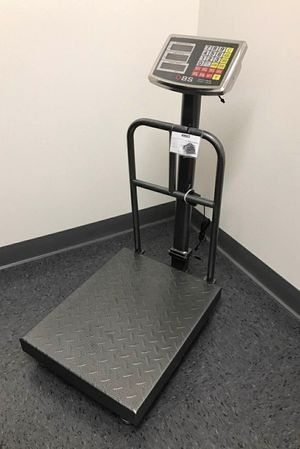 Brand new in box 300kg/660lb Digital Shipping Postal Scale Floor Iron Sheet Platform 15.5x19.5 inches Rechargeable battery for Sale in Whittier, CA