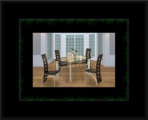 Glass dining table with 4 chairs for Sale in Gambrills, MD