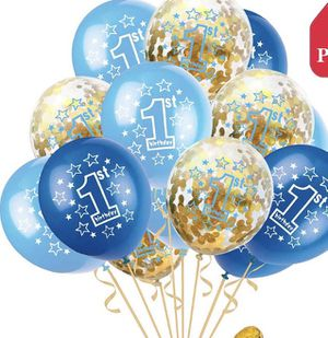 NEW! 32Pcs 1st Birthday Balloons Confetti Decorations Kit, Baby Shower Party Supplies for Sale in Stuart, FL