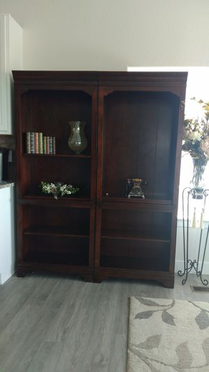 2pc Dark Wood Shelves for Sale in Colorado Springs, CO