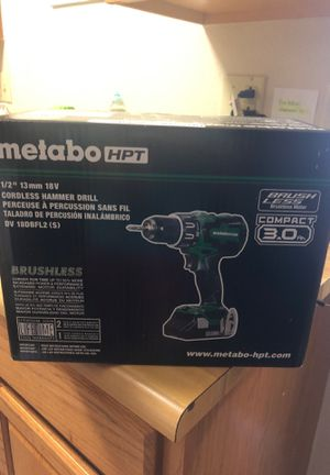 Metabo 18v hammer drill 1/2 13mm new in box for Sale in St. Louis, MO