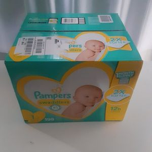 Pampers Swaddler 2X Soft Size 1 Count 198 12h for Sale in Atlanta, GA