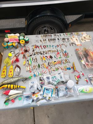 Fishing tackle, lures, hooks, reels, flies, etc. for Sale in Arvada, CO