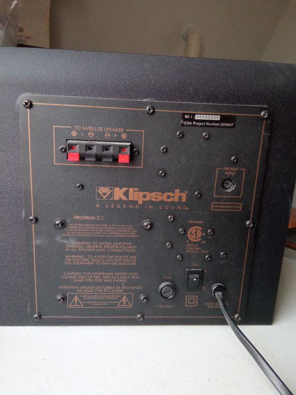 Klipsch Pro Media 2.1 Subwoofer