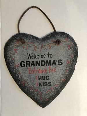 Slate Heart Sign Welcome to Grandma's for Sale in Ashland City, TN