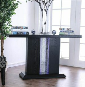 Contemporary Black Console Table with LED Lights for Sale in Chino, CA