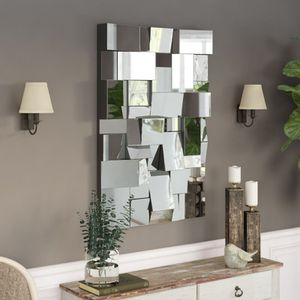 Pennsburg Rectangle Modern and Contemporary Beveled Accent Wall Mirror for Sale in Los Angeles, CA
