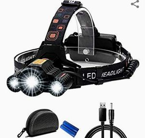 Headlamp, MKROYO Ultra Bright Flashlight Headlamp 3 Cree LED Up to 7000 Lumen for Sale in Palatine, IL