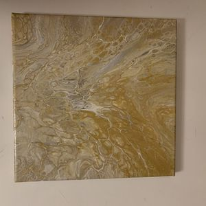 """""""wedding"""" Original Pour Painting On Canvas for Sale in Palo Alto, CA"""