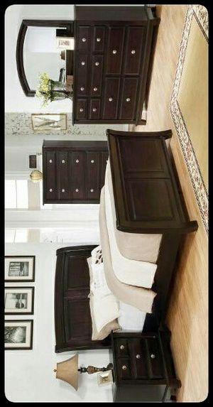 ✔SET✔ Kenton Dark Brown Sleigh Bedroom Set for Sale in Brentwood, MD