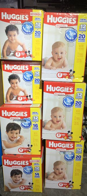 Huggies Diapers all sizes ! for Sale in Richmond, CA
