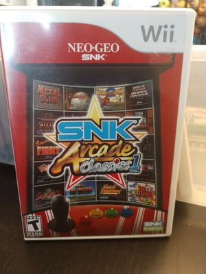 Nintendo Wii Game SNK Arcade Classics for Sale in Vancouver, WA