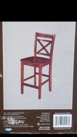 BRAND NEW Wooden pub/bar height chairs for Sale in Snoqualmie, WA