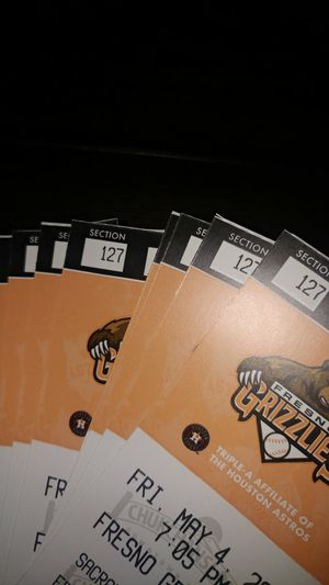 Grizlies Baseball tickets for Sale in Sanger, CA