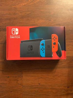 Nintendo Switch Console V2 Neon Red Blue Joy-Con for Sale in Fallsington, PA