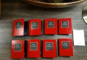 (8) Cartier Pasha EDT Edition Noire Vials Each Vial is 1.5ml 0.05FL OZ (1) Cartier Carat Eau de Parfum 0.2ml Vial VALENTINES DAY SPECIAL!!!!!!! A To for Sale in Carol City, FL