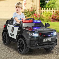 🎉!!BRAND NEW 12V REMOTE CONTROL Electric Kid Ride On Car Power Wheels Police SUV 🚔 with Built in Music USB MP3 and BLUETOOTH for Sale in Whittier,  CA