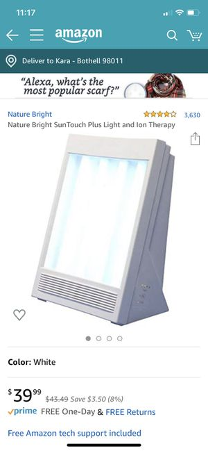Nature Bright SunTouch Plus Light and Ion Therapy for Sale in Bothell, WA