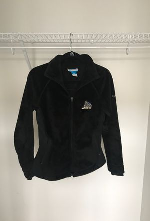 Women's Black Fleece Columbia jacket with JMU Logo, size Medium! for Sale in Gaithersburg, MD