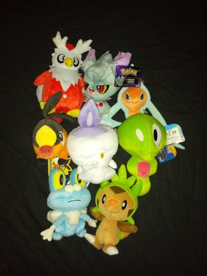 Generations 2, 4, 5, and 6 pokemon plushies for Sale in Bowie, MD