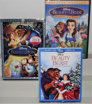 Complete Disney Beauty and the Beast Trilogy Set -(Disney, 3 Movies) for Sale in Williamsburg, VA