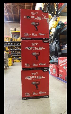 MILWUAKEE M18 FUEL BRUSHLESS 1400 FT LBS TORQUE 1/2 IMPACT WRENCH TOOL ONLY BRAND NEW for Sale in San Bernardino, CA