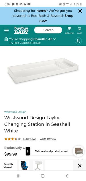 Westwood changing table top New in box! for Sale in Queen Creek, AZ