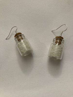 Custom-made glow in the dark bottle hanging earrings for Sale in Land O' Lakes, FL