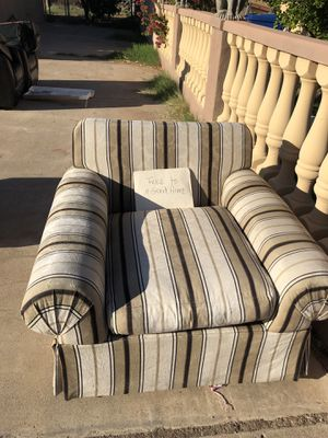 Sofa Like Chair ( Wide) - Missing back pillow -FREE!' for Sale in Mesa, AZ