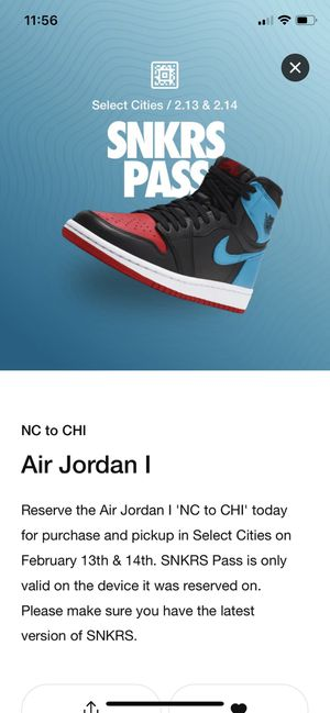 Jordan 1 retro high NC to CHI men's 10 for Sale in Los Angeles, CA