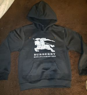 New Black Burberry Cotton Hoodie Youth Size Medium for Sale in Evans City, PA