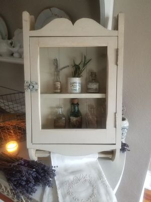 Charming antique apothecary cabinet 1920's for Sale in Norfolk, VA