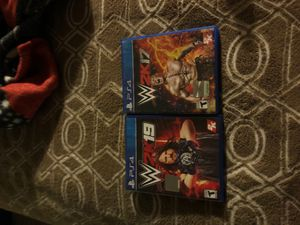 PS4 wwe2k19and2k17 good games for Sale in Santa Ana, CA