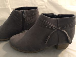 Grey Faux-Suede Old Navy Strappy Ankle Boots for Sale in Bluffdale, UT
