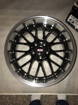 """Rims 18""""x8.5"""" STRRacing rims black and sliver! for Sale in Langhorne, PA"""