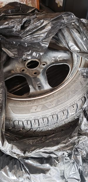 5 Goodyear Winter Ultra Grip studded snow tires with rims 225 50/17 for Sale in Billings, MT