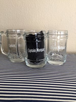 Captain Morgan Collectible Rum Embossed Clear Glass for Sale in Phoenix, AZ