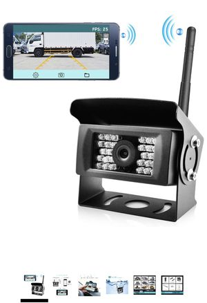 Wireless Phone Backup Camera Reversing Camera for Trucks RV Trailers and Campers WiFi App Backup Camera Waterproof Rearview Camera Works with Smartph for Sale in Hacienda Heights, CA