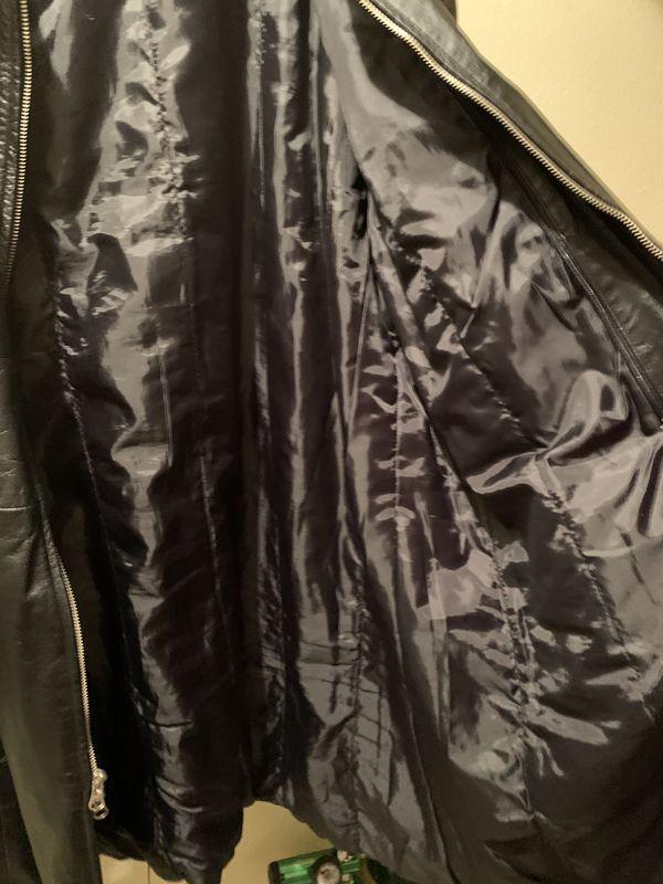5XL Genuine Leather unisex jacket