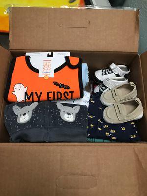 Cana llena con ropa de bebe for Sale in Garland, TX